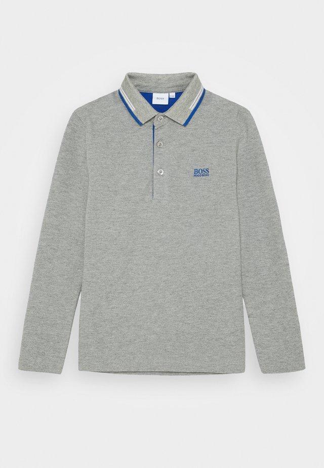 LONG SLEEVE - Polo shirt - grey marl