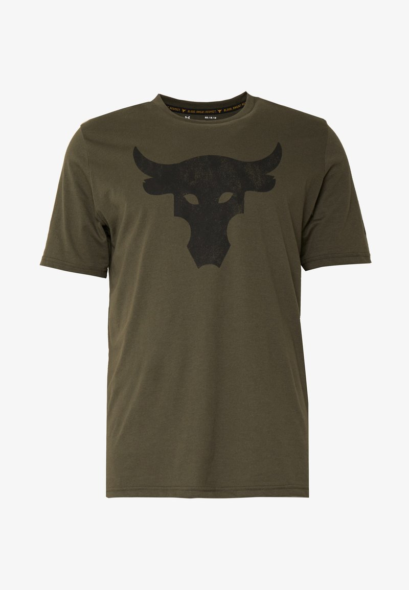 Bolos Contar papi  Under Armour PROJECT ROCK BRAHMA BULL - Camiseta estampada - guardian  green/verde - Zalando.es