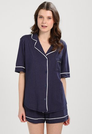TOP BOXER PJ - Pigiama - dark blue/white