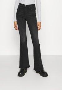 Dr.Denim - MACY - Flared Jeans - black mist - 0
