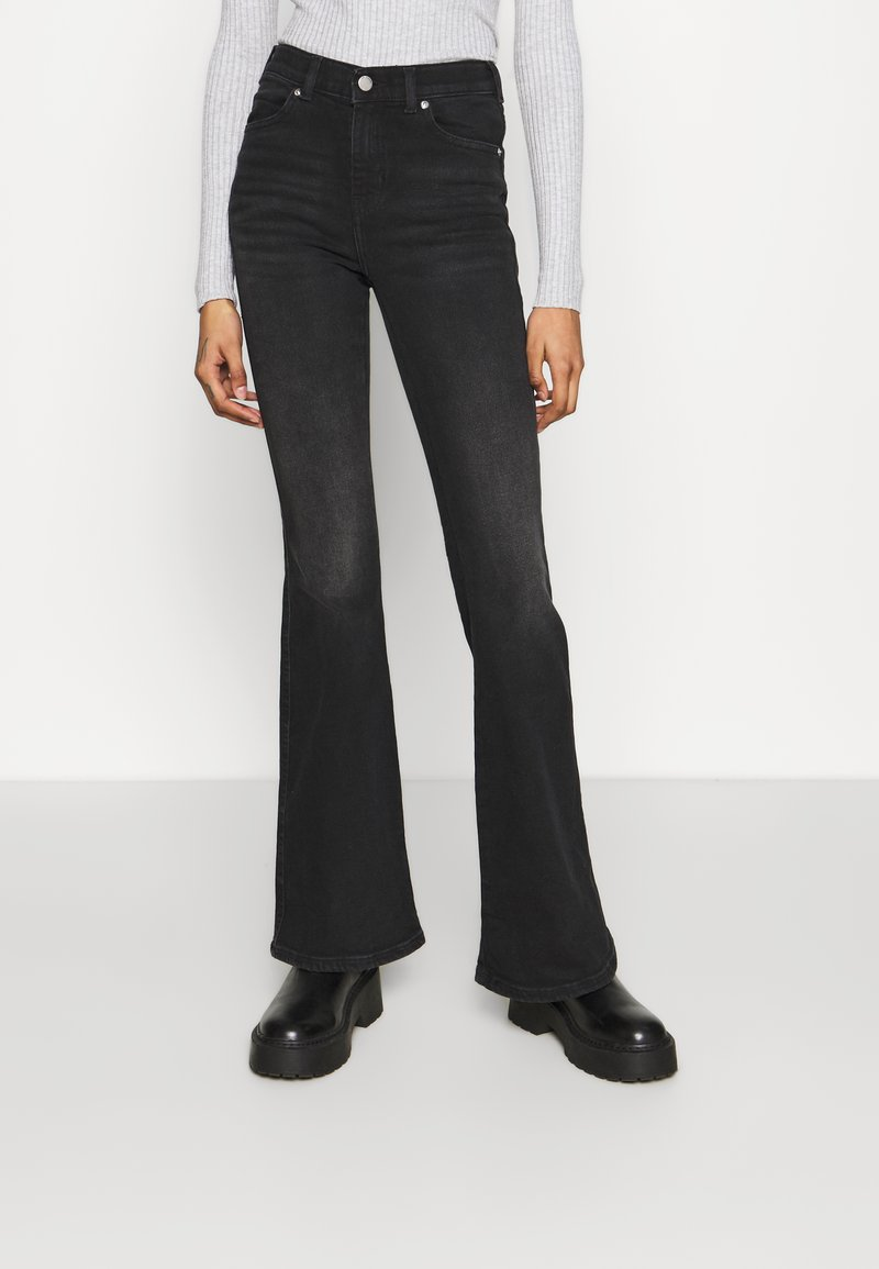 Dr.Denim - MACY - Flared Jeans - black mist
