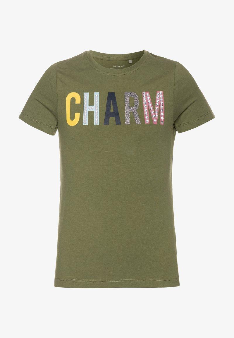 Name it - NKFDEKIA - Camiseta estampada - loden green