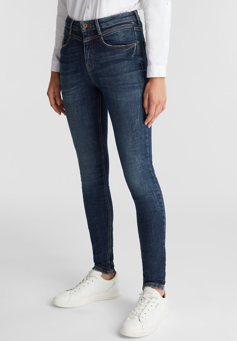 edc by Esprit - Jeans Skinny Fit - blue dark washed