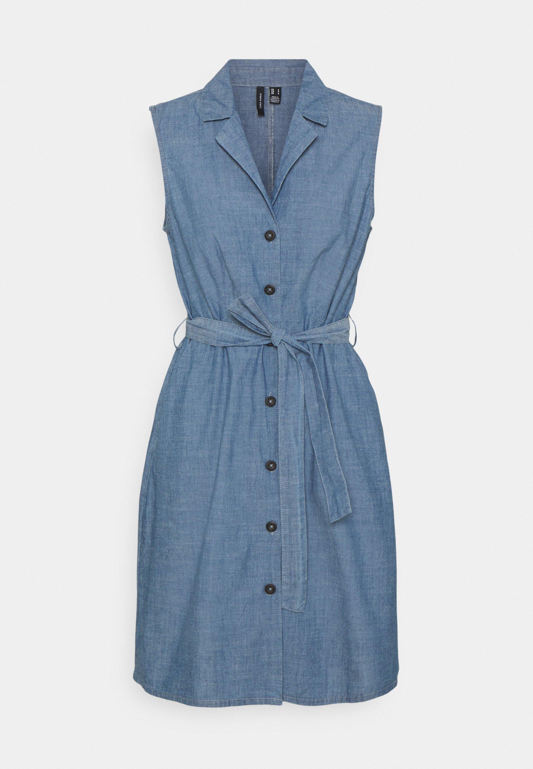 Women VMAKELASANDY  SHORT DRESS - Denim dress