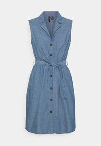 Vero Moda - VMAKELASANDY  SHORT DRESS - Denim dress - medium blue denim - 0