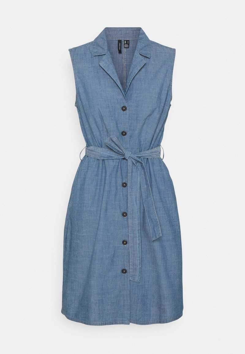 Vero Moda - VMAKELASANDY  SHORT DRESS - Denim dress - medium blue denim
