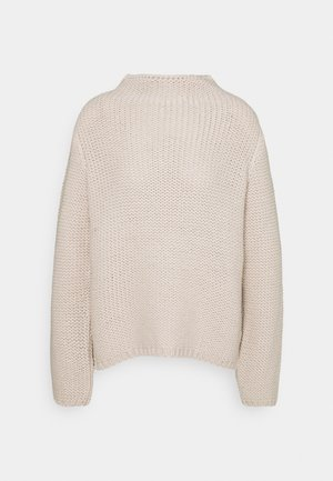 LONGSLEEVE ALLOVER STRUCTURE - Strickpullover - beige