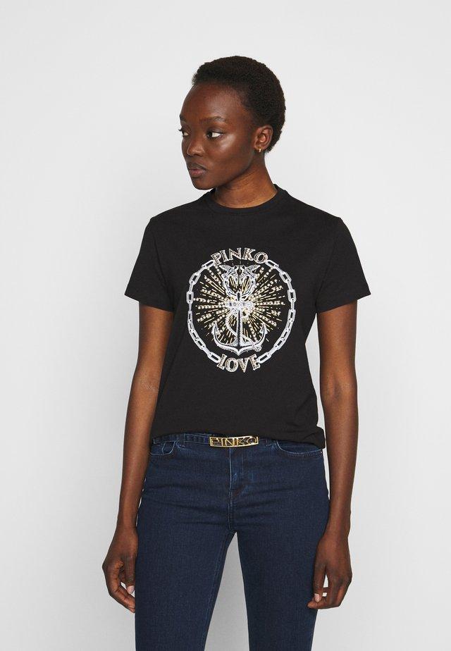 EDGARDO - Print T-shirt - nero