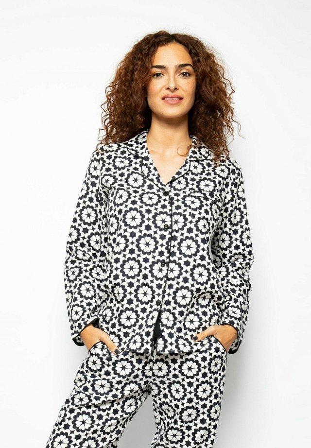 Pyjama top - black floral