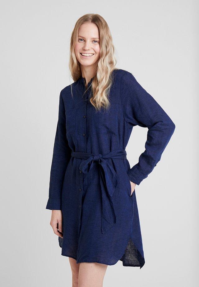 Vestido camisero - dunkelblau