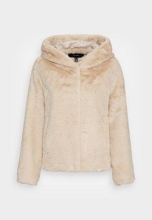 VMIBEN HOODIE FAUX FUR JACKET  - Winter jacket - oatmeal