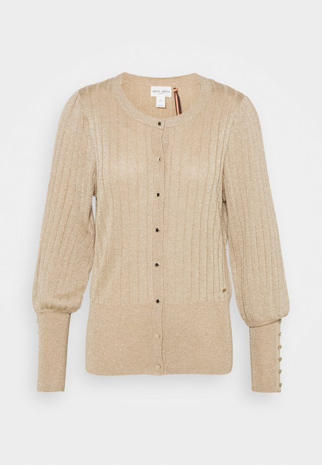 CARDIGAN STINE - Kardigan - dark dusty beige