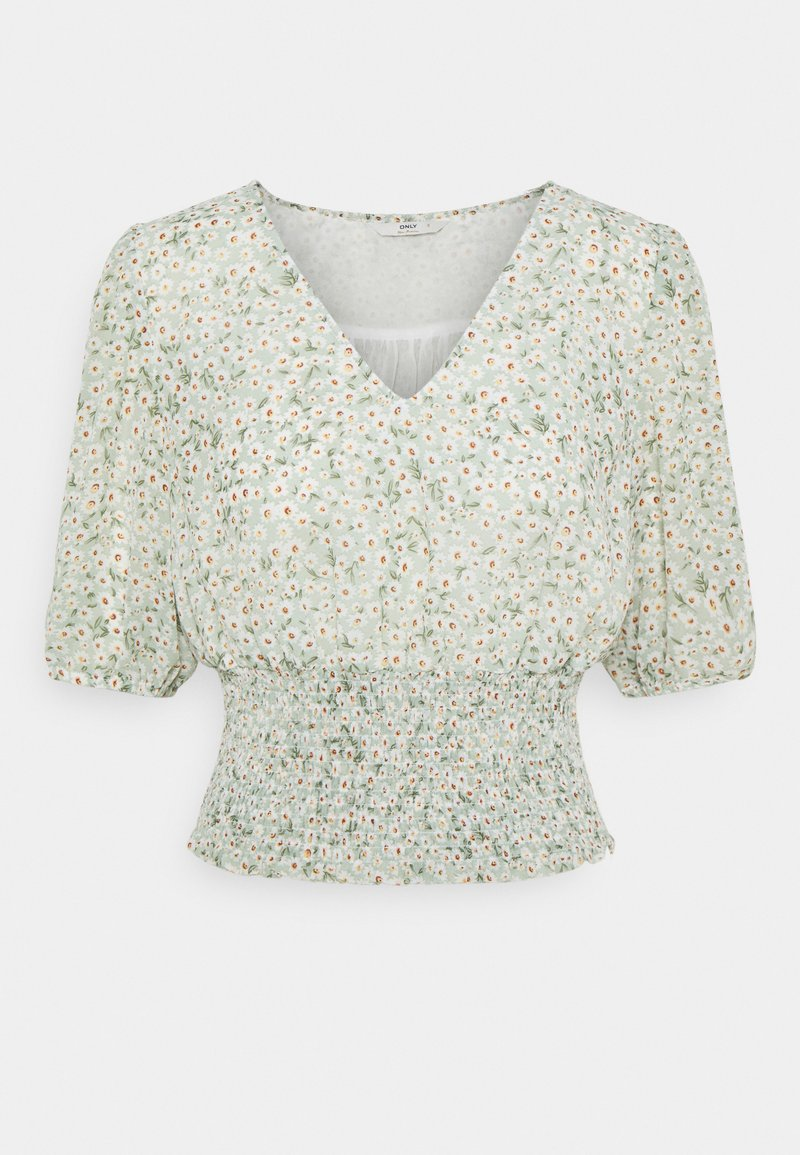 ONLY - ONLMILLE MINI MARI FLOWER SMOCK  - Bluser - chinois green