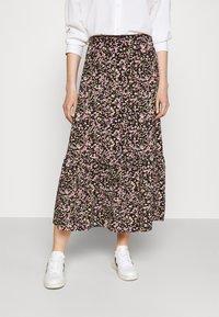JDY - JDYURBAN MIDCALF SKIRT - A-line skirt - black/multicolor - 0