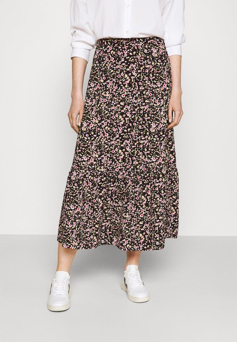 JDY - JDYURBAN MIDCALF SKIRT - A-line skirt - black/multicolor