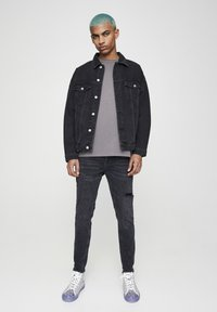 PULL&BEAR - Skinny džíny - mottled black - 1