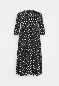 Simply Be - TIERED DRESS - Jersey dress - black - 4