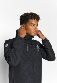 Fanatics - NFL OAKLAND RAIDERS ICONIC BACK TO BASICS MIDWEIGHT JACKET - Club wear - black - 3