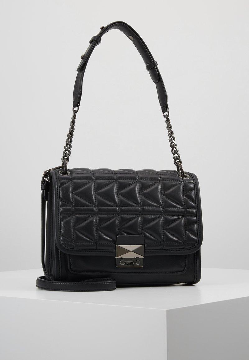 KARL LAGERFELD - KUILTED SMALL SHOULDERBAG - Håndtasker - black