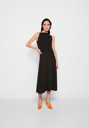 LACE BACK FIT AND FLARE DRESS - Jumper dress - black
