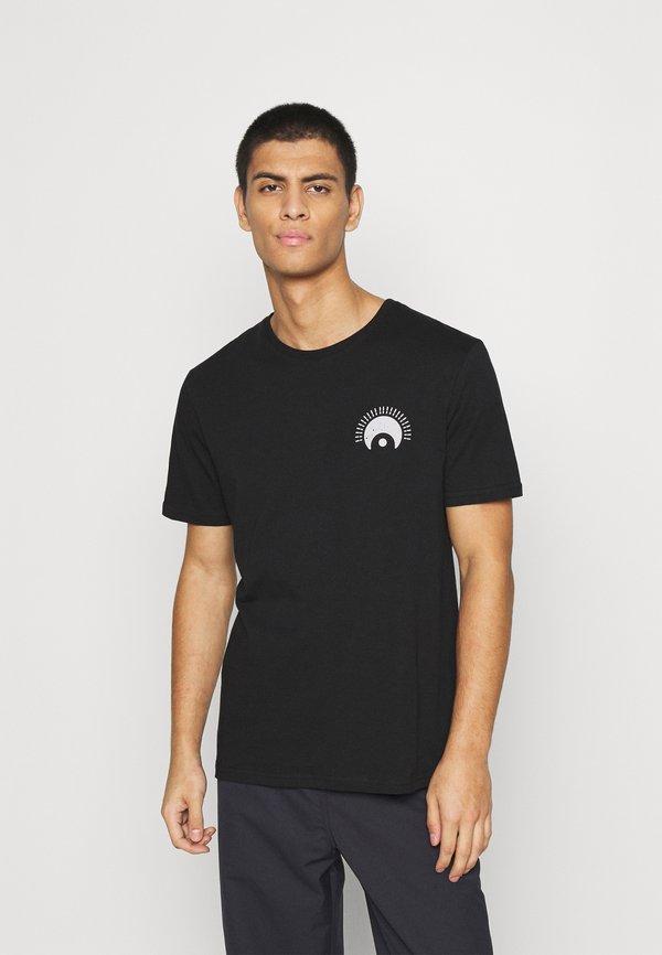 YOURTURN UNISEX - T-shirt z nadrukiem - black/czarny Odzież Męska FXIY