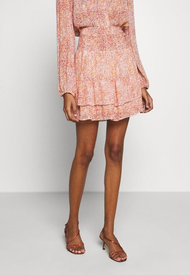 FLORAL SHORT SKIRT - A-line skirt - apricot brandy
