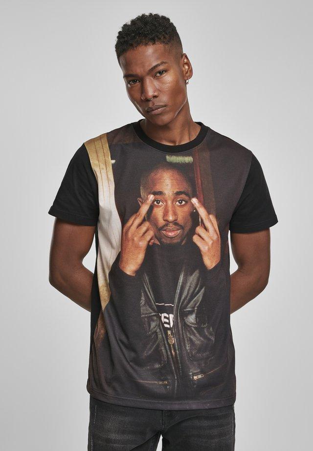 TUPAC TRUST NOBODY TEE - T-shirt print - black