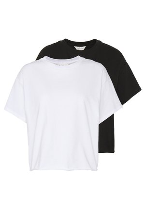 TEE 2 PACK - T-shirts - black/white