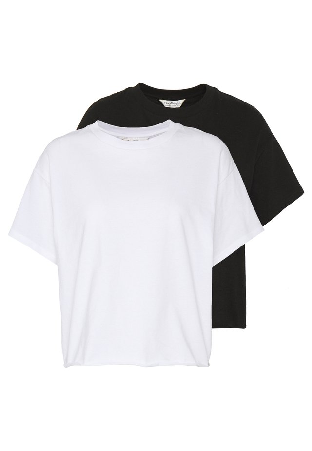 TEE 2 PACK - Basic T-shirt - black/white