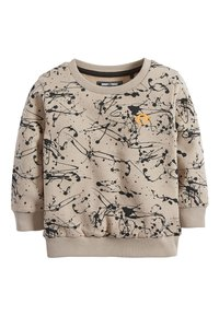 Next - STONE SPLAT PRINT CREW TOP (3MTHS-7YRS) - Felpa - beige - 0