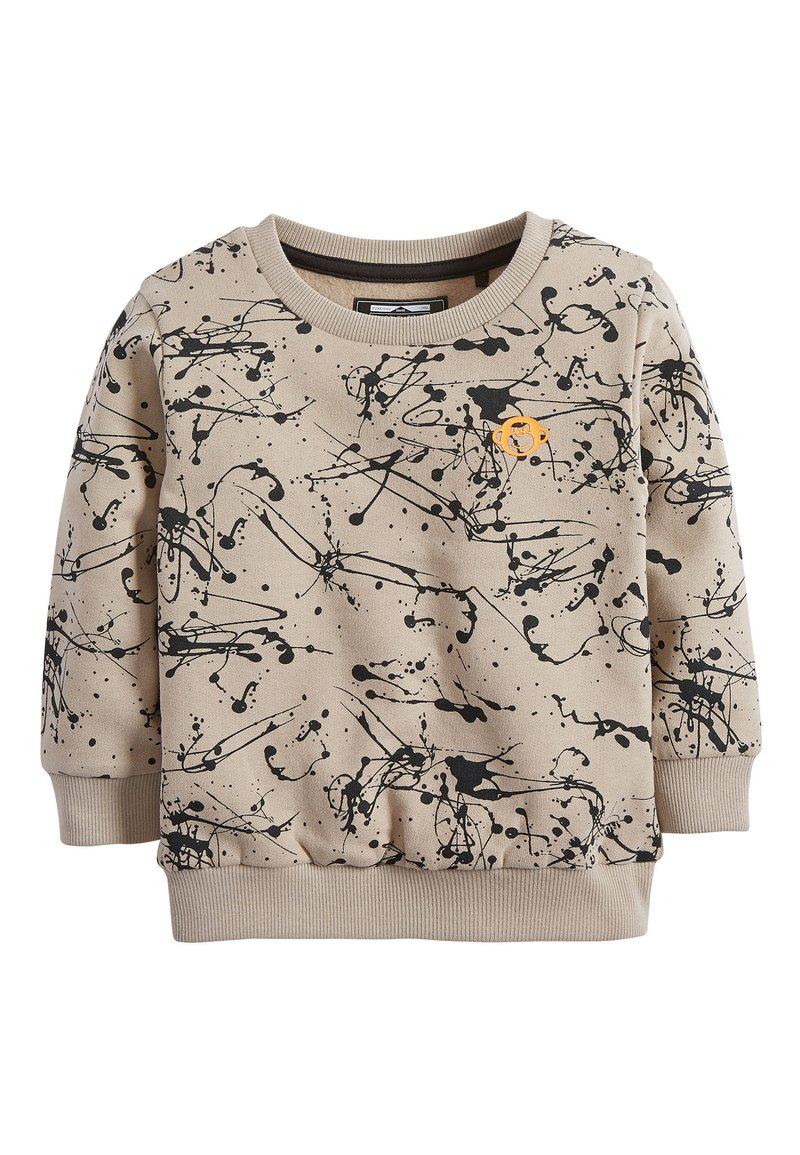 Next - STONE SPLAT PRINT CREW TOP (3MTHS-7YRS) - Felpa - beige