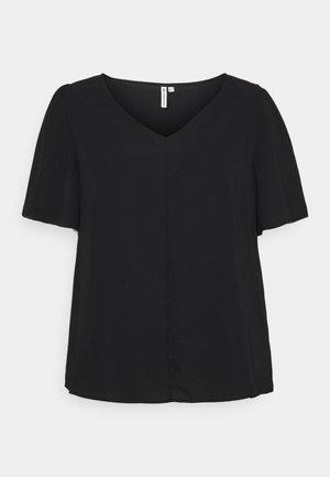 CARNOVA LUX SOLID - T-shirts - black