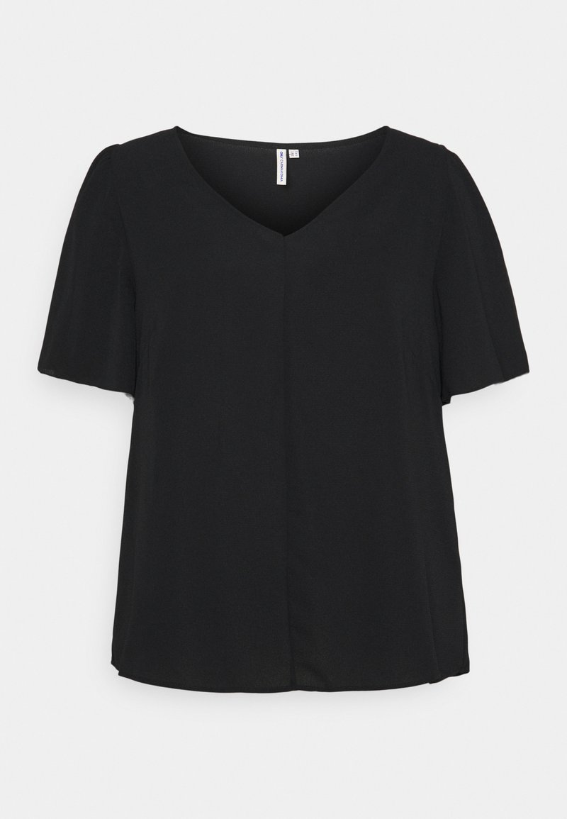 ONLY Carmakoma - CARNOVA LUX SOLID - T-shirts - black