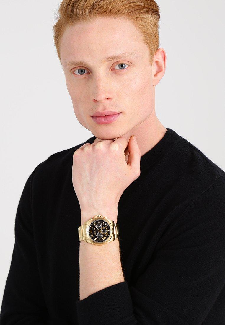 Michael Kors - BRECKEN - Chronograph watch - gold-coloured