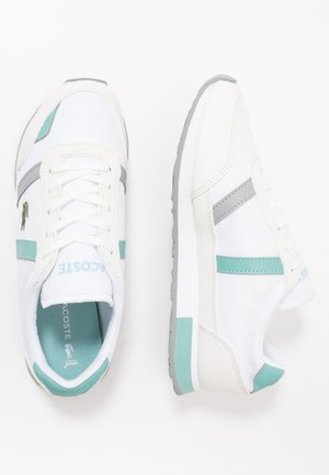 PARTNER - Baskets basses - white/turquoise