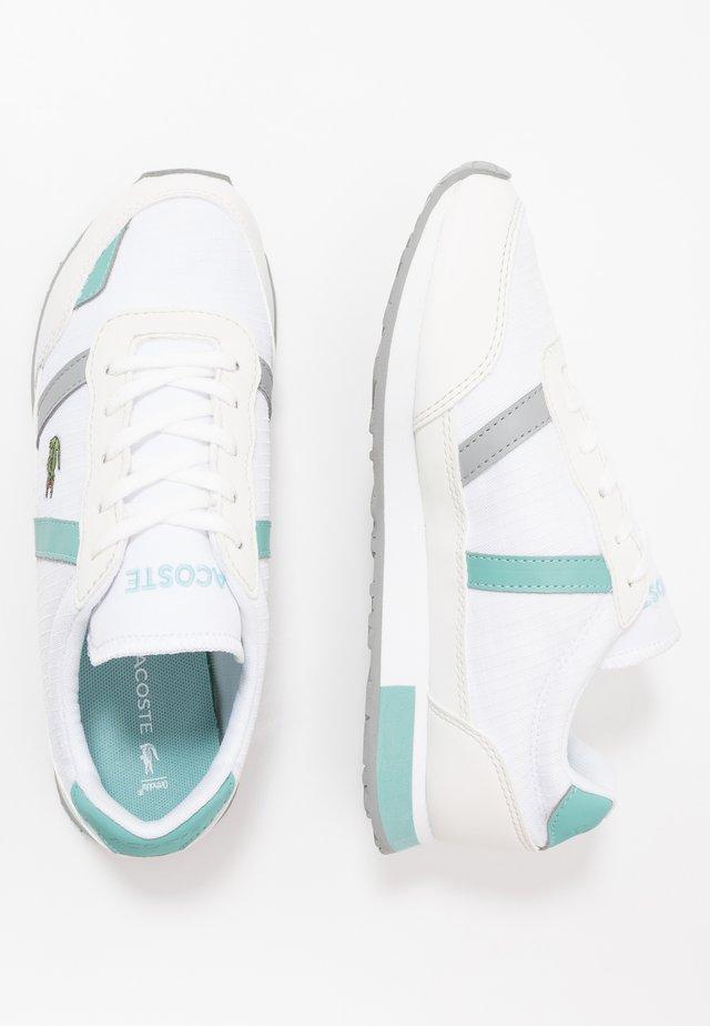 PARTNER - Joggesko - white/turquoise