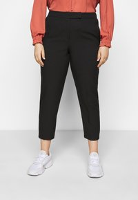 CAPSULE by Simply Be - ESSENTIAL TAPERED TROUSER - Trousers - black - 0
