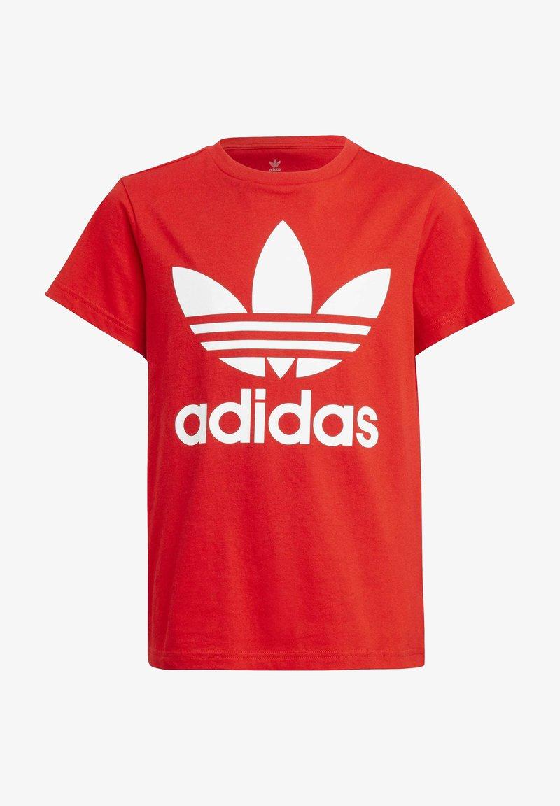 adidas Originals - TREFOIL TEE - T-shirt z nadrukiem - red/white