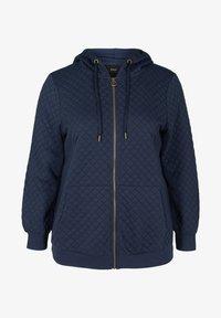 Zizzi - Zip-up hoodie - blue - 1