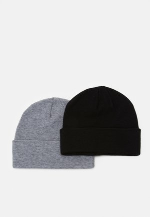 2 PACK - Čepice - black/grey