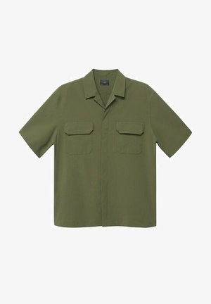 REGULAR FIT IN SEERSUCKER-QUALITÄT - Shirt - khaki