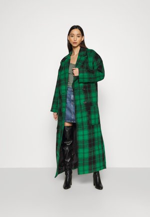 CHECKED OVERSIZED FORMAL COAT - Classic coat - green