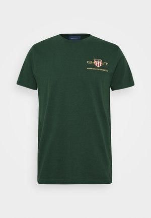 ARCHIVE SHIELD - Print T-shirt - tartan green