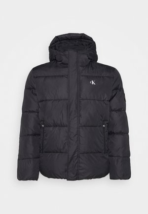 PLUS HOODED JACKET - Talvitakki - black