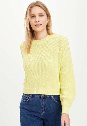 Strikpullover /Striktrøjer - yellow