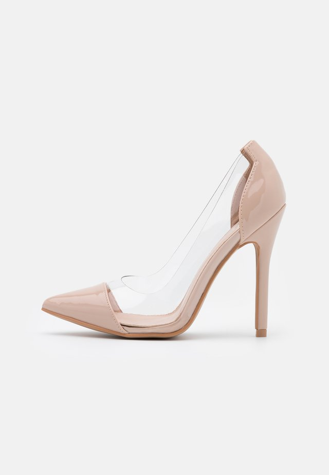 High heels - clear/nude