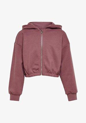 Sweater met rits - rose brown