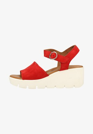 Wedge sandals - red
