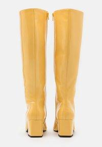 Monki - VEGAN PATTIE BOOT - Vysoká obuv - yellow - 3