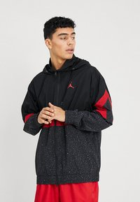 Jordan - DIAMOND CEMENT JACKET - Windbreakers - black/gym red - 0